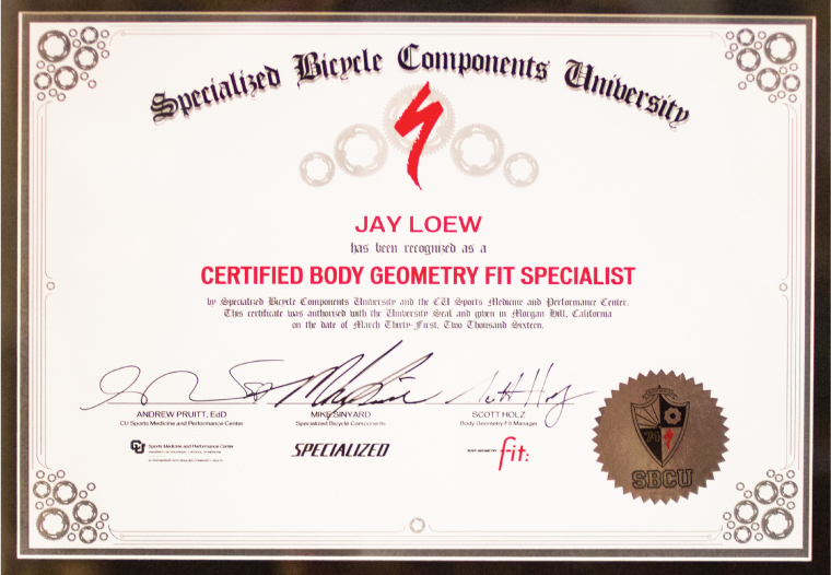 Certified Body Geometry Fit Specialist